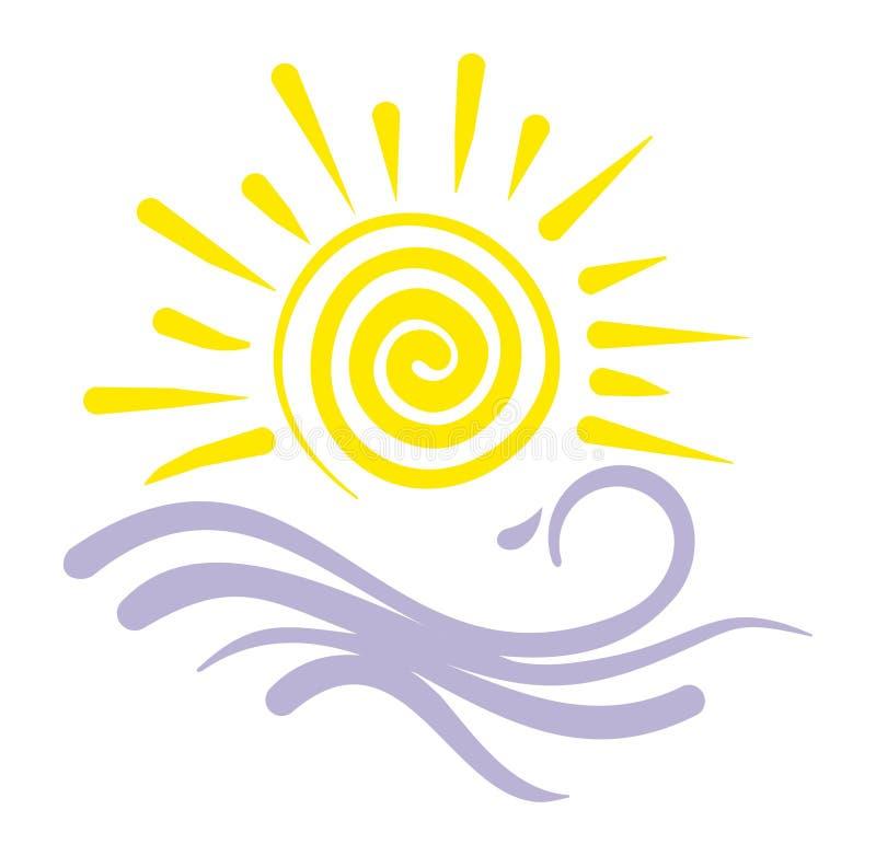 loga kurortu morze royalty ilustracja