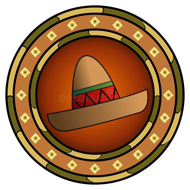 loga meksykanina sombrero royalty ilustracja