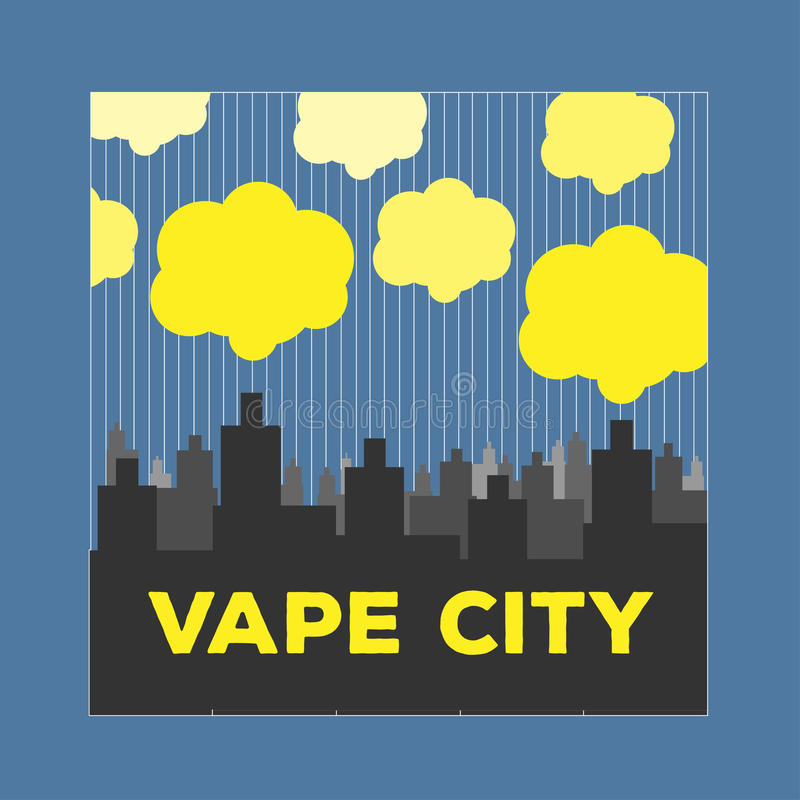 Loga miasta vaping elektroniczny papierosowy vape royalty ilustracja