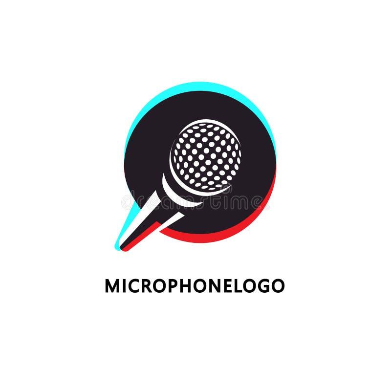 Loga projekt dla muzyki lub transmitowania odnosić sie biznes royalty ilustracja