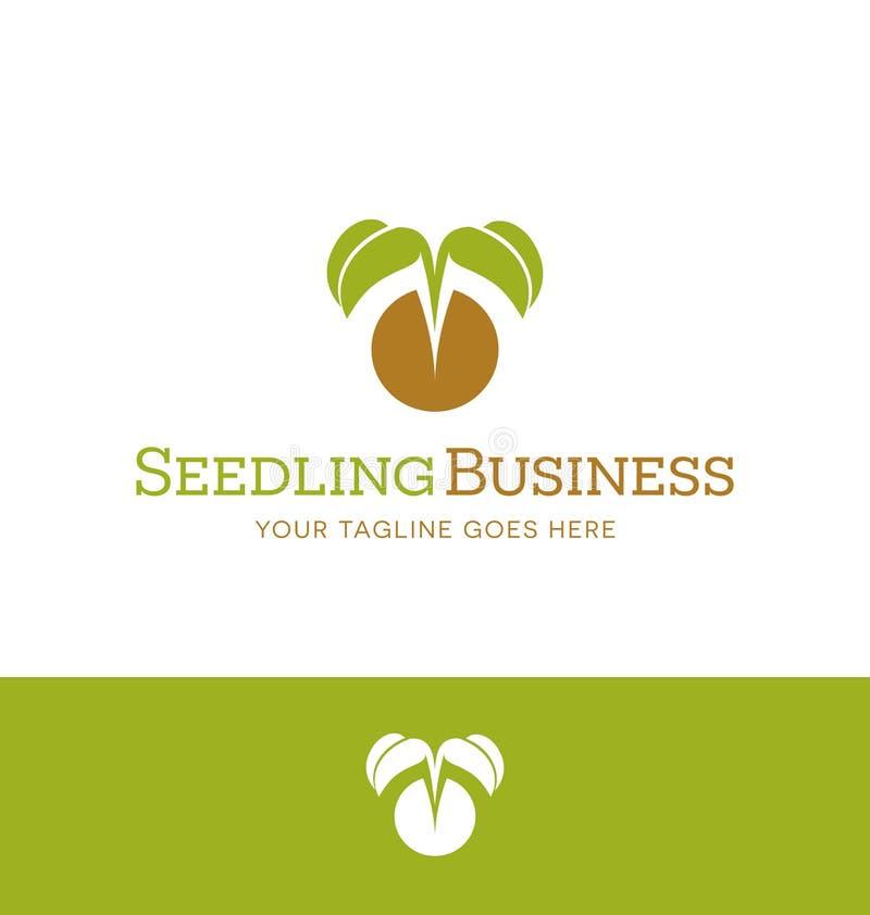 Loga projekt dla rośliny pepiniery, organicznie uprawiać ziemię, weganin ilustracji