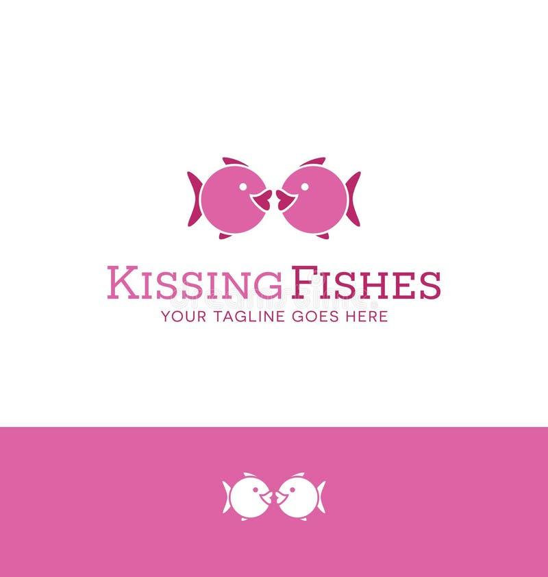 Loga projekt 2 ryba ikonowy całować royalty ilustracja