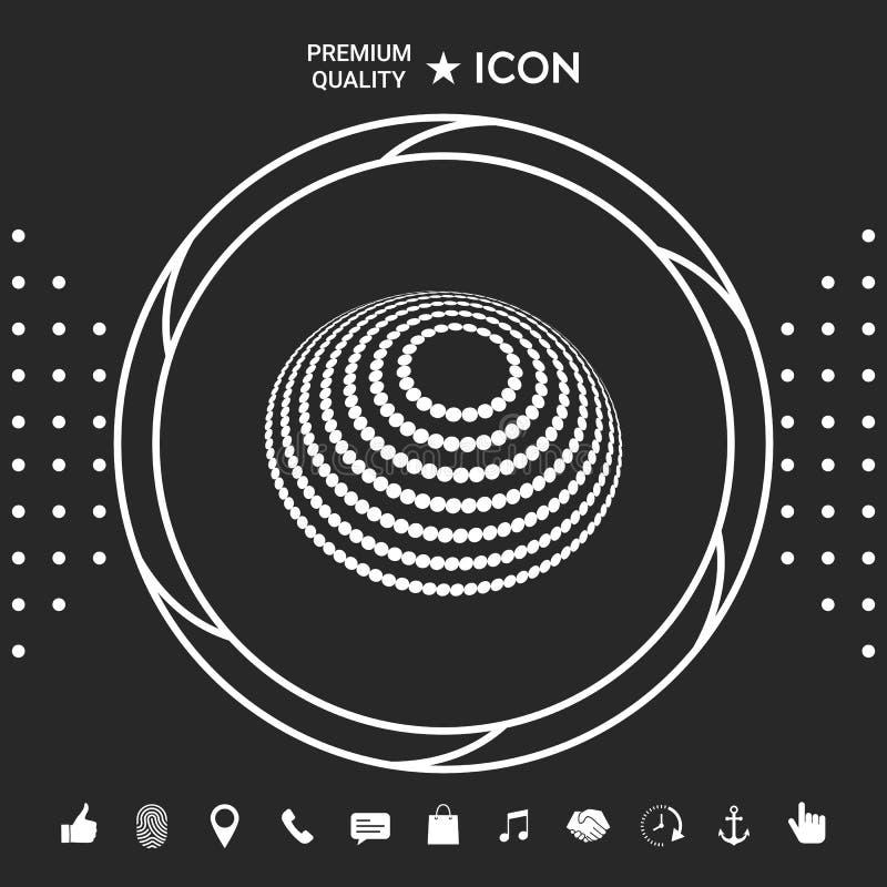 Loga projekt - Ziemski symbol Graficzni elementy dla twój designt ilustracja wektor