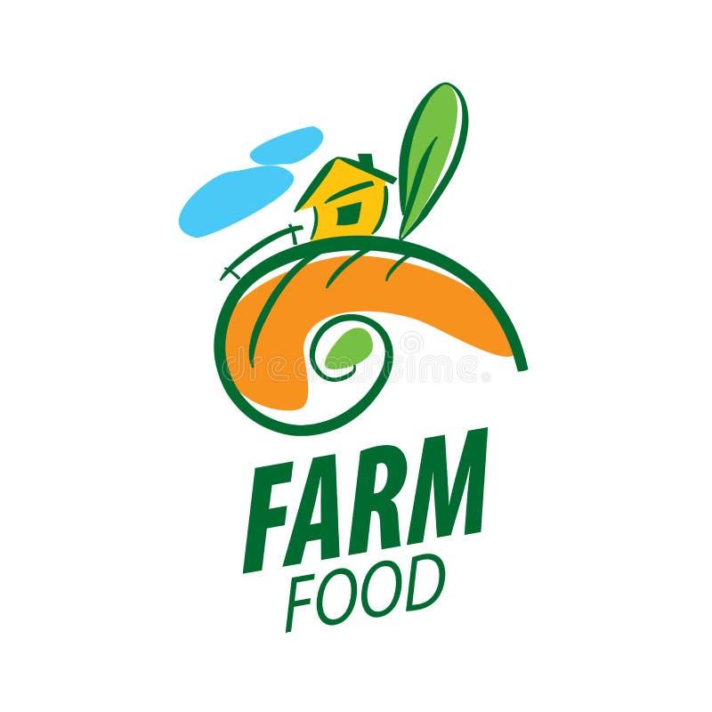 Loga rolny jedzenie ilustracji
