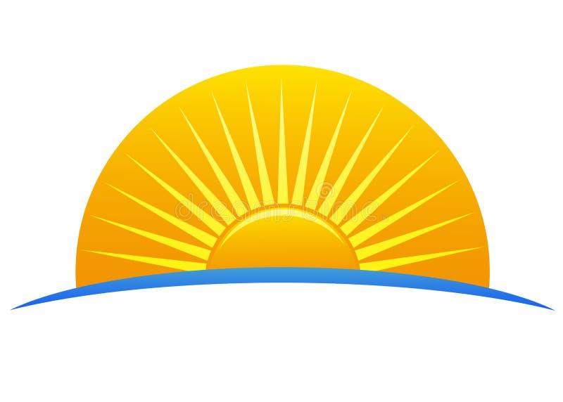 loga słońce ilustracja wektor