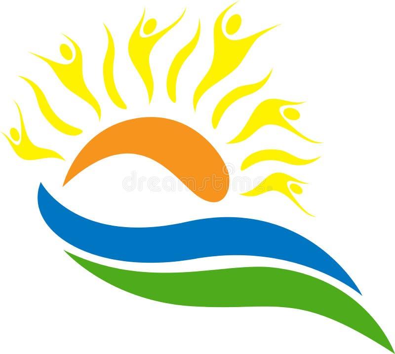 loga słońce royalty ilustracja