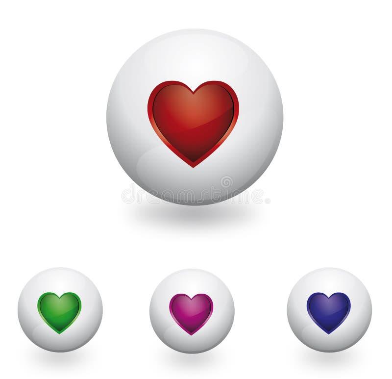 Loga serce i sfera ilustracja wektor
