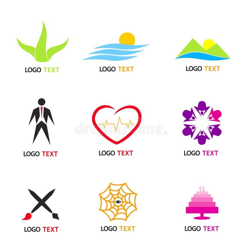 loga set ilustracji