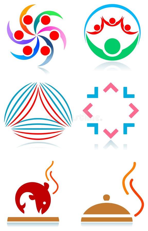 loga set royalty ilustracja