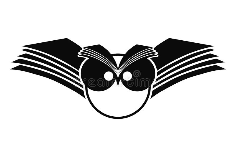 loga sowy sylwetka royalty ilustracja