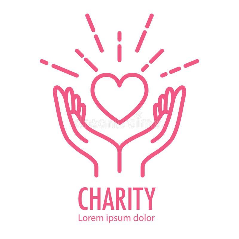 Loga szablon dla dobroczynności ilustracja wektor