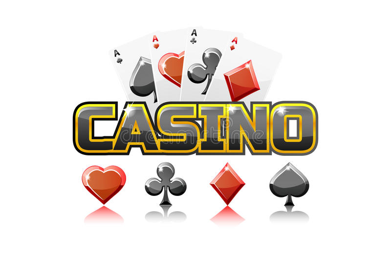 Loga teksta karta do gry Dla Ui gry elementu i kasyno, royalty ilustracja