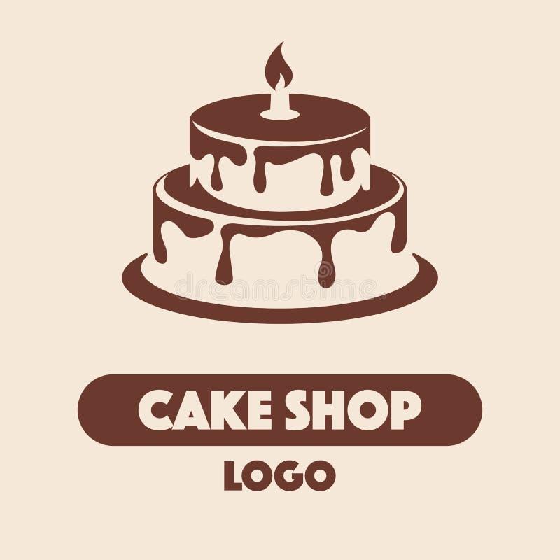 Loga torta sklep ilustracja wektor