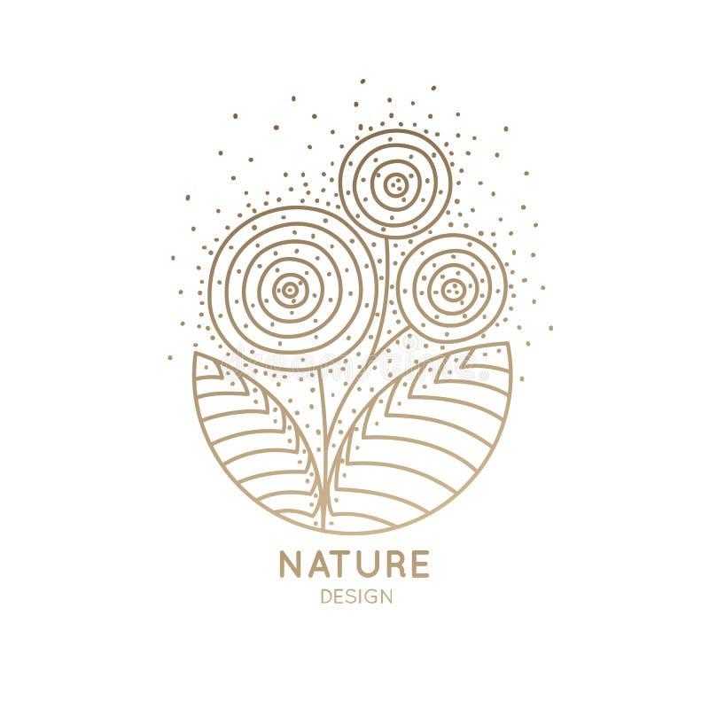 Download Loga trzy kwiaty ilustracja wektor. Ilustracja złożonej z naturalny - 106910769
