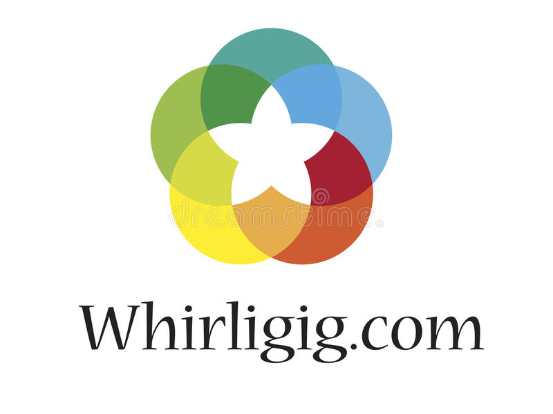 loga whirligig royalty ilustracja