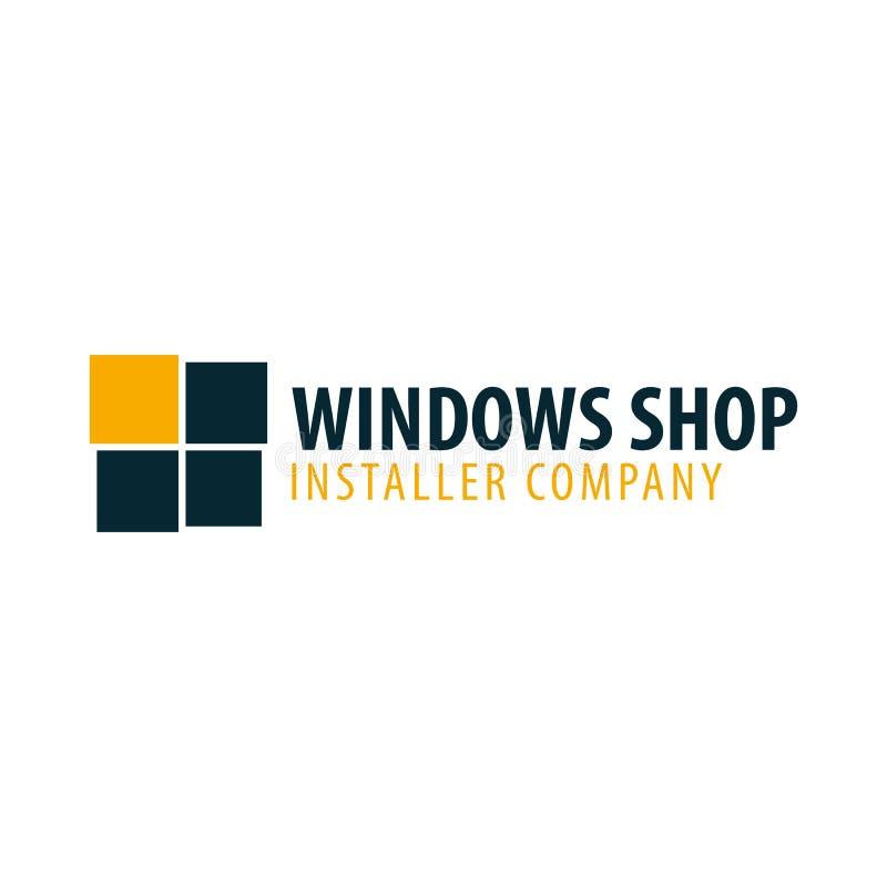 Loga Windows sklep Installer firma również zwrócić corel ilustracji wektora ilustracji