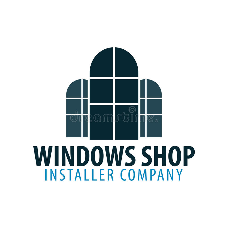 Loga Windows sklep Installer firma również zwrócić corel ilustracji wektora royalty ilustracja