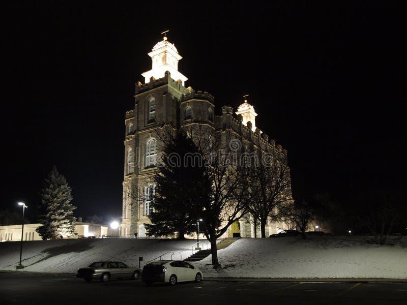 Logan świątynia przy nocą zdjęcia royalty free