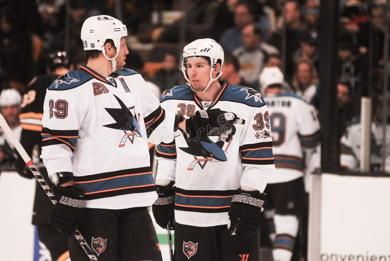 Logan Couture San Jose Sharks royaltyfria bilder