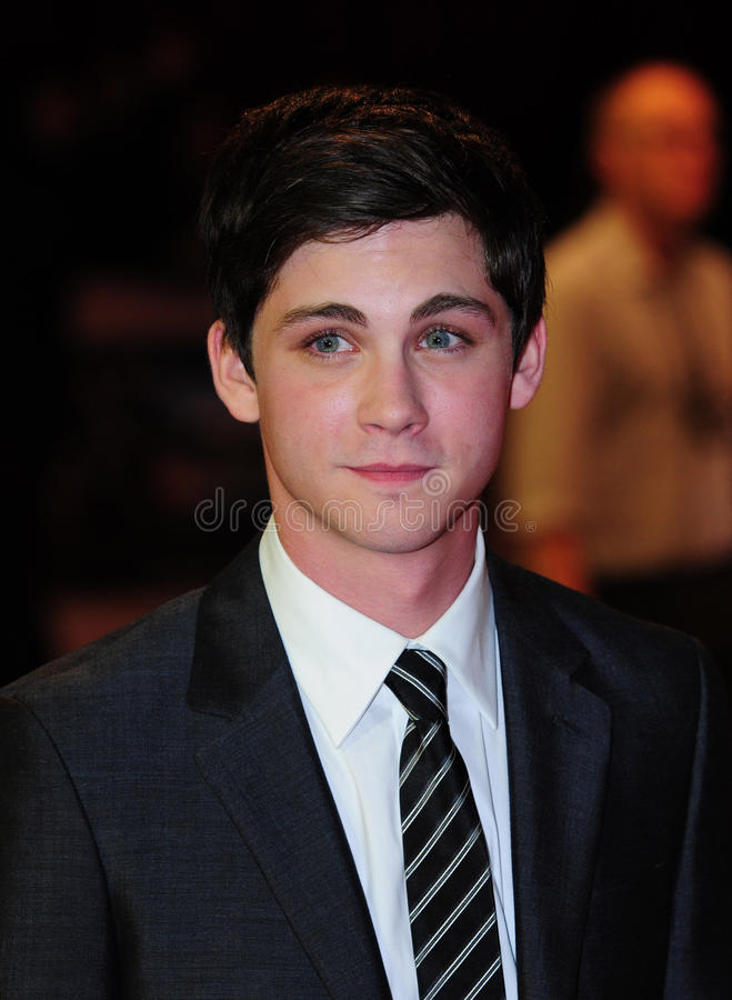 Logan Lerman foto de stock