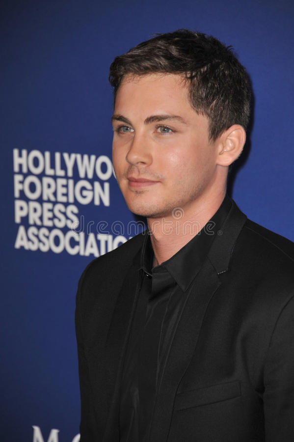 Logan Lerman foto de stock royalty free
