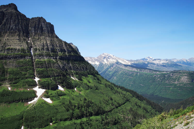 Logan Pass Glacier Park royalty free stock images
