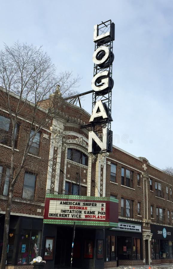 Logan Theatre imagens de stock royalty free