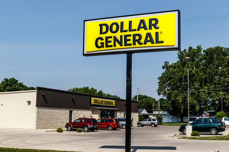 Logansport - Circa June 2018: Dollar General Retail Location. Dollar General is a Small-Box Discount Retailer III. Dollar General Retail Location. Dollar General stock photo