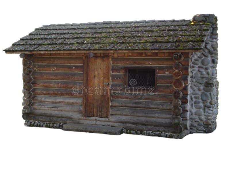 logarithme naturel d'isolement par cabine photographie stock libre de droits