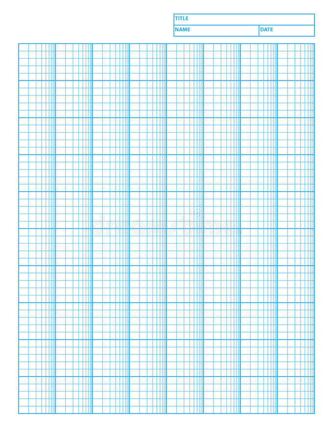 logarithmic engineering graph paper stock vector