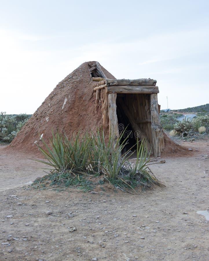 Loge de sueur de Navajo pour nettoyer l'esprit et l'esprit images libres de droits