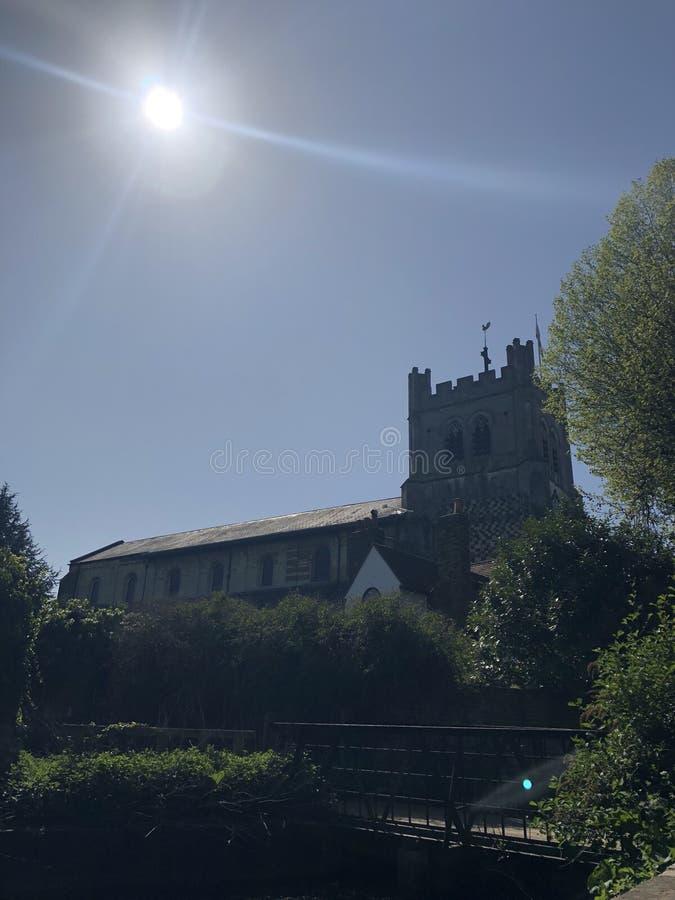 Loge du portier de jardin d'église d'abbaye de Sunbeam photographie stock libre de droits