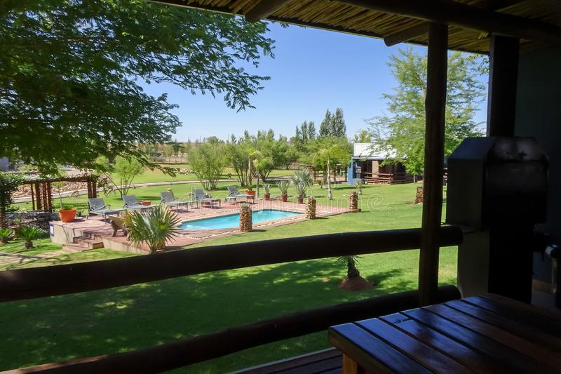 Loge 17/01/2019, Upington Afrique du Sud de Tshahitsi photo stock