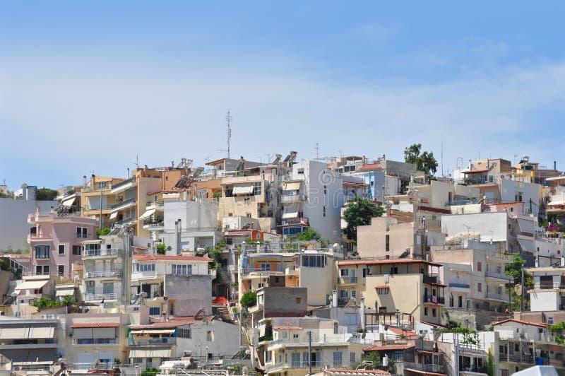 Logement à haute densité à Athènes photographie stock libre de droits