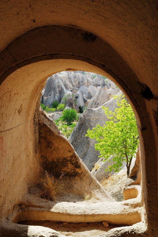 Logement de caverne dans Cappadocia image libre de droits