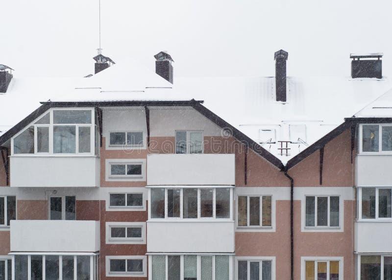 Logement de Milou en hiver photographie stock