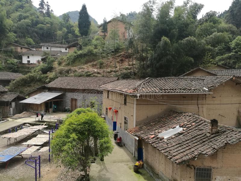 Logement rural dans des régions de montagne de la Chine photos libres de droits