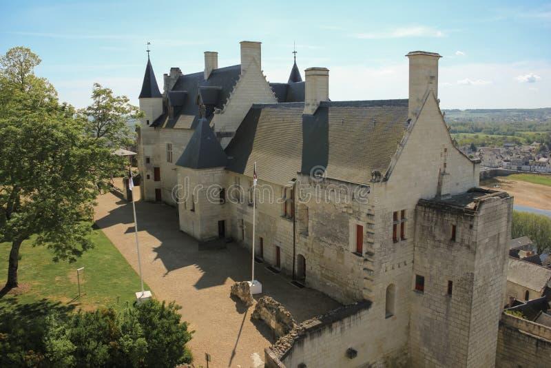 Logements royaux à la forteresse Chinon france photographie stock