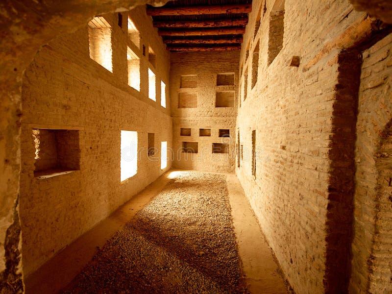 Logez l'intérieur dans la citadelle d'Arbil, Kurdistan, Irak image stock