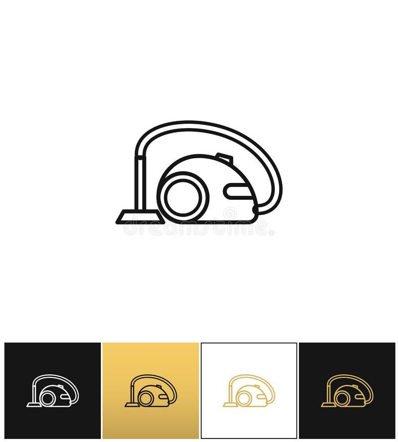 Logez le signe d'aspirateur ou l'icône de vecteur de joint de puissance illustration stock