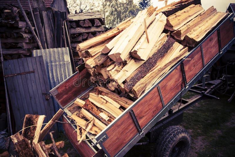 loggad traktor royaltyfri foto