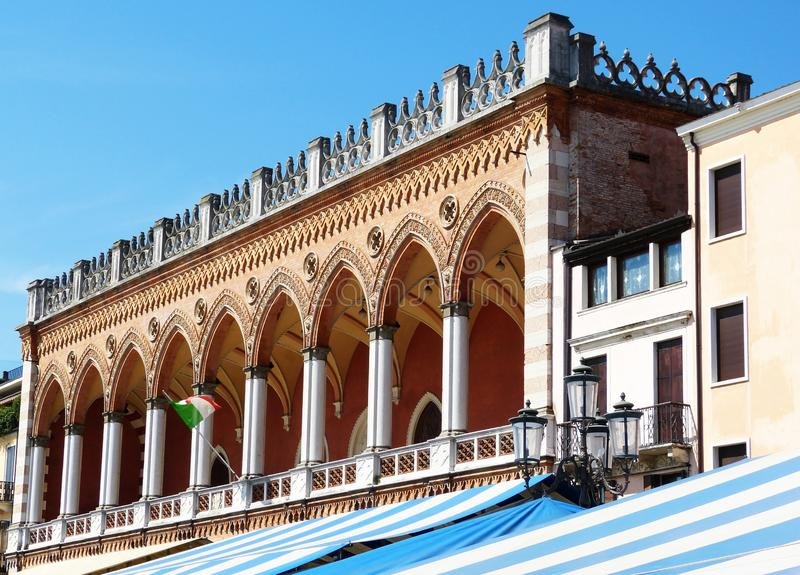 Loggia Amulea Padova royaltyfria foton