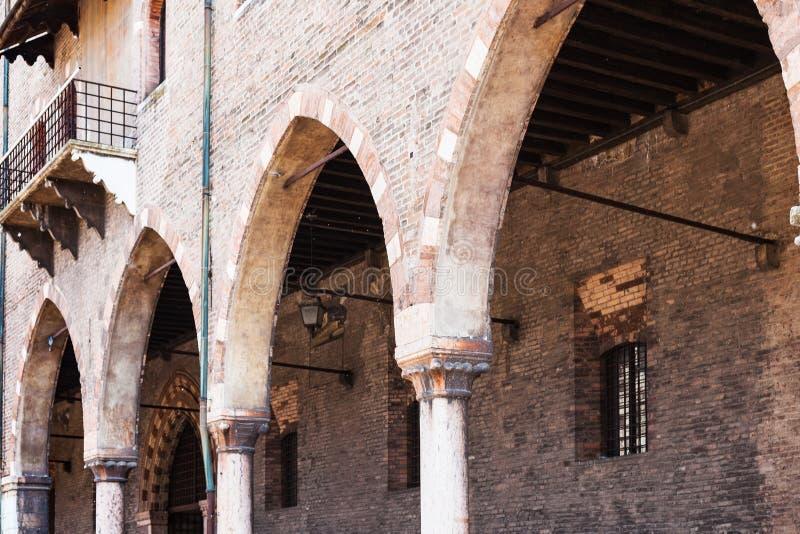 Loggia de di Mantova de Palazzo Ducale em Mantua fotografia de stock royalty free