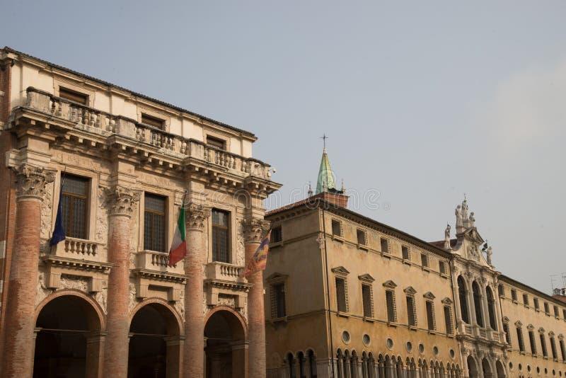 Loggia del Capitaniato,威岑扎,联合国科教文组织世界遗产名录站点,威尼托,意大利 免版税库存图片