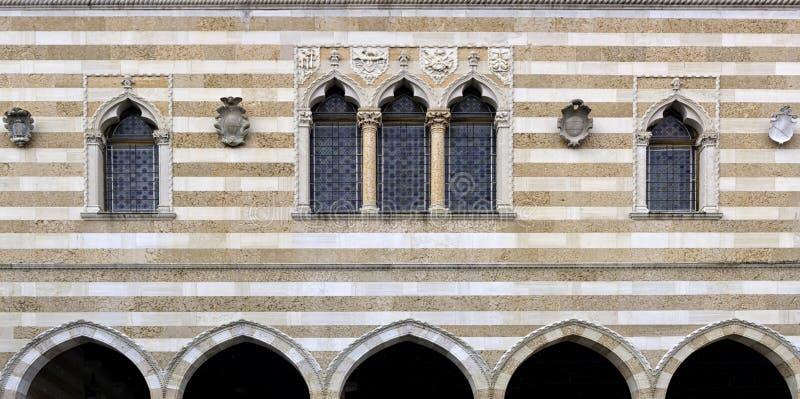 Loggia del Lionello - de Venetiaanse gotische stijlbouw royalty-vrije stock foto's