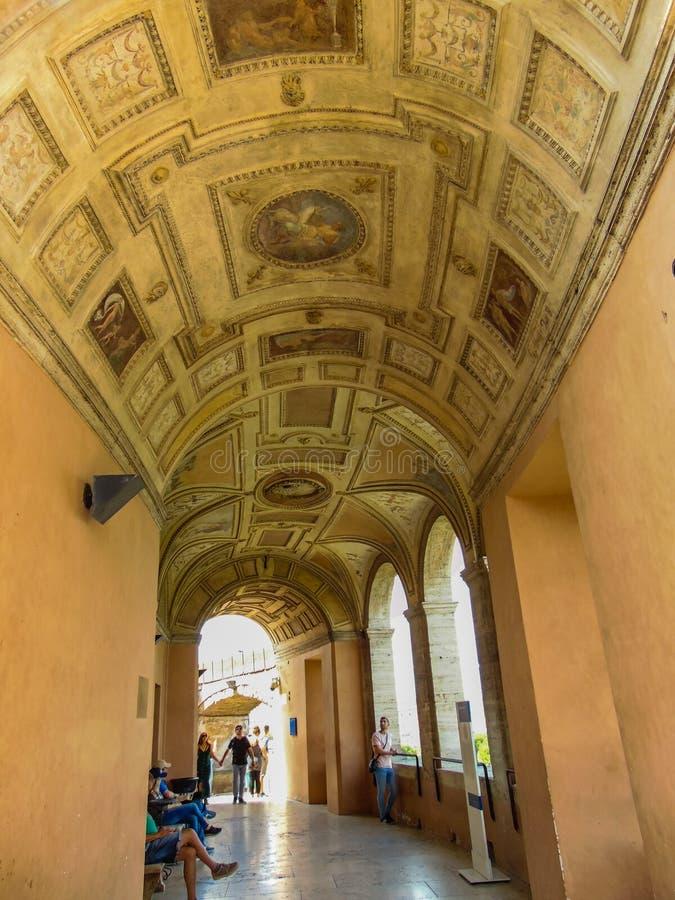 Loggia di Paolo III of Saint Angel Castle Rome Italy. stock photos