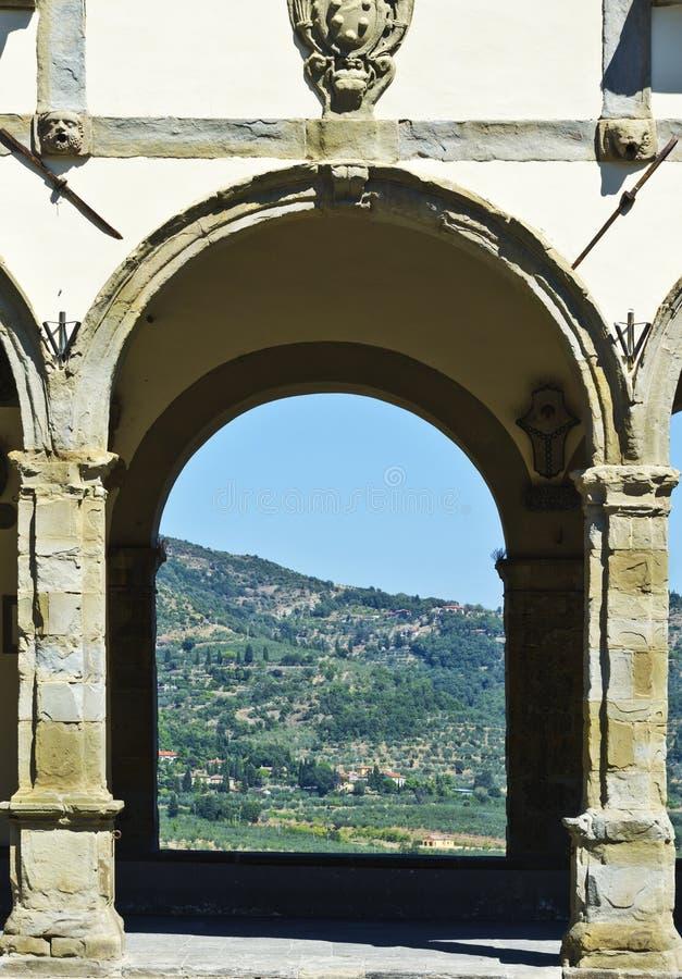 Loggia vid Vasari i Castiglionen Fiorentino royaltyfri foto