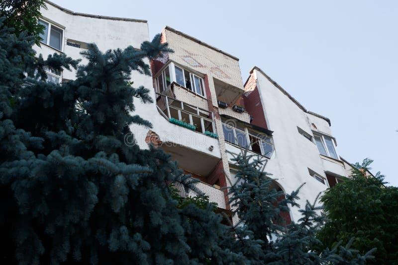Loggias residenciais da casa fotografia de stock royalty free