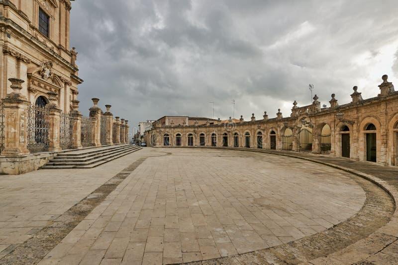 Ispica Sicily Italy. Loggiato del Sinatra. Ispica Sicily Italy royalty free stock images