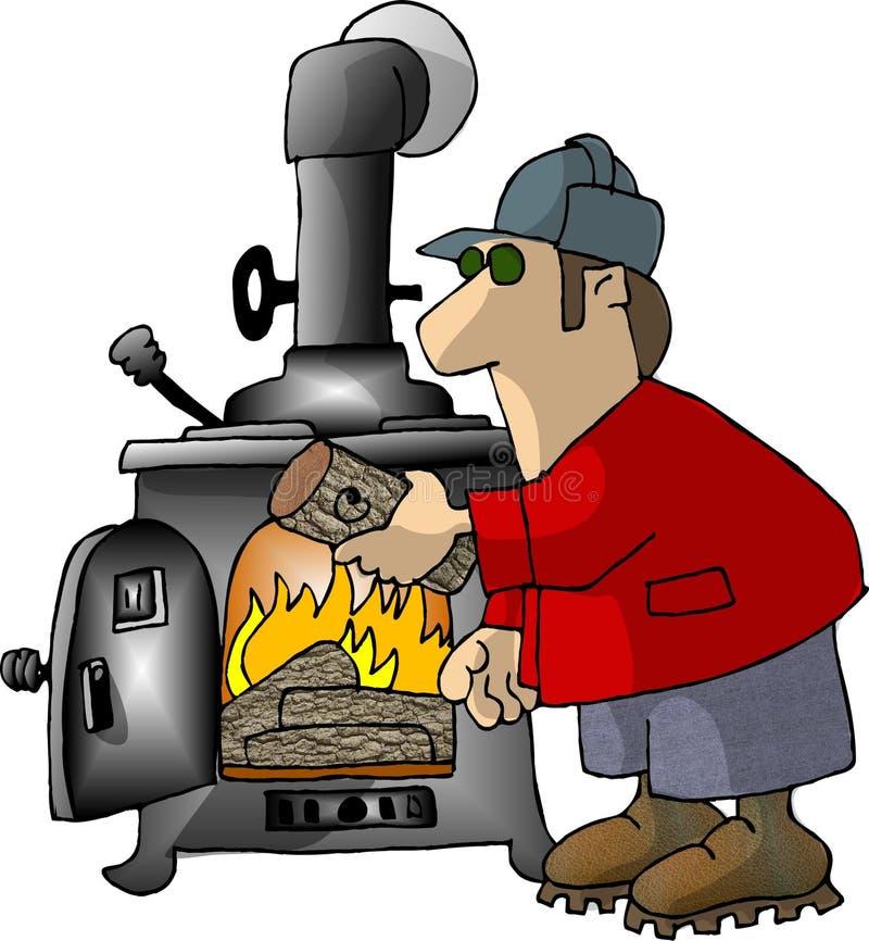 Logging on stock illustration